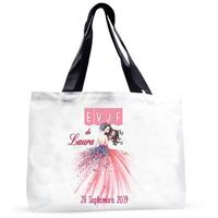 Grand sac cabas EVJF personnalisé avec prénom et date