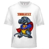 Tee shirt enfant Dinosaure Superdino personnalisé avec prénom