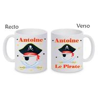 Mug (tasse) céramique Pirate personnalisé avec prénom