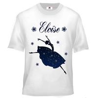 Tee shirt enfant Danse classique personnalisé avec prénom