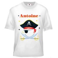 Tee shirt enfant Pirate personnalisé avec prénom