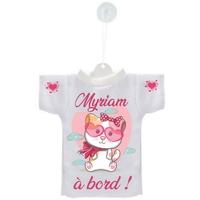 Mini tee shirt voiture Bébé à bord Chat Chaton personnalisé avec prénom