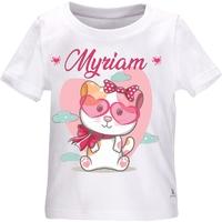 Tee shirt bébé Chat Chaton fille personnalisé avec le prénom de votre choix