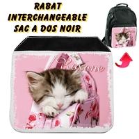Rabat interchangeable Chat chaton personnalisé avec prénom