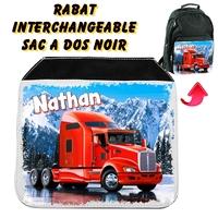 Rabat interchangeable Camion personnalisé avec prénom