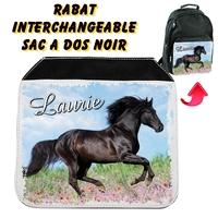 Rabat interchangeable Cheval Chevaux personnalisé avec prénom