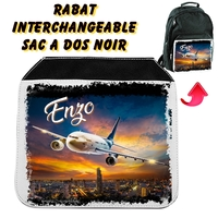 Rabat interchangeable Avion personnalisé avec prénom