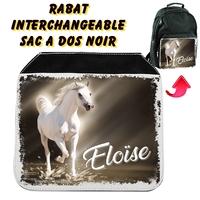 Rabat interchangeable Cheval personnalisé avec prénom