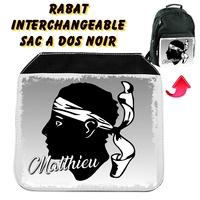 Rabat interchangeable Corse personnalisé avec prénom