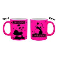 Mug (tasse) Fluo Panda personnalisé avec prénom