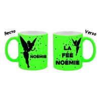 Mug (tasse) Fluo Fée personnalisé avec prénom