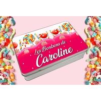 Boite à bonbons personnalisée avec le prénom de votre choix