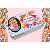 Boite à bonbons personnalisée avec prénom et votre photo