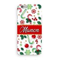Coque Noël 3D Iphone 5/6/7/8/X/XR/XS personnalisée avec prénom