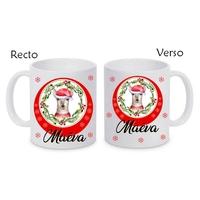 Mug (tasse) céramique Noël Renne personnalisé avec prénom