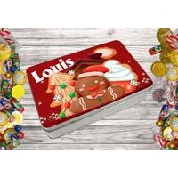 Boite à bonbons Noël personnalisée avec le prénom de votre choix