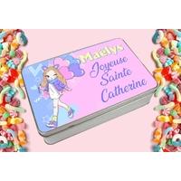 Boite à bonbons Sainte Catherine personnalisée avec le prénom de votre choix