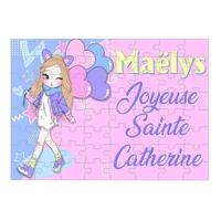 Puzzle Sainte Catherine personnalisé avec prénom 35,70 ou 96 pièces