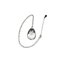 Collier pendentif ovale personnalisé avec votre photo