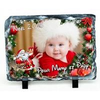 Ardoise Noël personnalisée avec votre photo et votre texte....