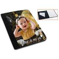 Pochette bloc-notes personnalisée avec votre photo et texte