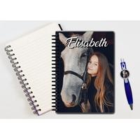 Cahier à spirales et stylo personnalisé avec votre photo et texte