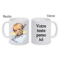 Mug (tasse) céramique personnalisé avec votre photo et texte