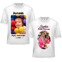 Tee shirt enfant personnalisé avec votre photo et texte