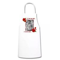 Tablier de cuisine Amour Rose rouge St Valentin personnalisé avec votre photo et texte