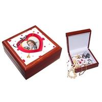 Boite à bijoux Coeur Love Amour personnalisée avec votre photo et prénom