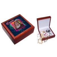 Boite à bijoux personnalisée avec votre photo et prénom