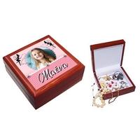 Boite à bijoux Fée personnalisée avec votre photo et prénom
