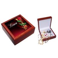 Boite à bijoux Romantique personnalisée avec le prénom de votre choix
