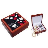 Boite à bijoux Amour Coeurs personnalisée avec le prénom de votre choix