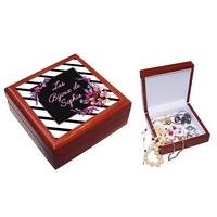 Boite à bijoux Tendance personnalisée avec le prénom de votre choix