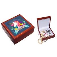 Boite à bijoux Licorne personnalisée avec le prénom de votre choix