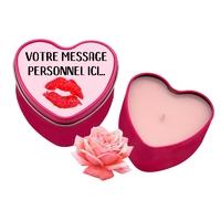 Bougie coeur personnalisée avec votre message