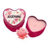 Bougie coeur Roses personnalisée avec votre prénom
