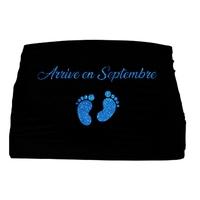 Bandeau de grossesse Arrive en.....personnalisé avec le mois de votre choix