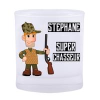Verre Chasse Super Chasseur personnalisé avec prénom