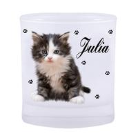 Verre Chat chaton personnalisé avec prénom