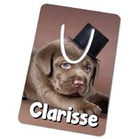 Marque-page Chiot labrador personnalisé avec prénom