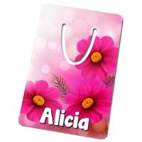 Marque-page Fleurs personnalisé avec prénom