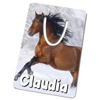 Marque-page Cheval personnalisé avec prénom