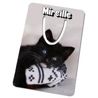 Marque-page Chat chaton personnalisé avec prénom