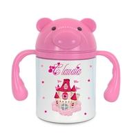 Gourde pour bébé Chateau de princesse personnalisée avec prénom