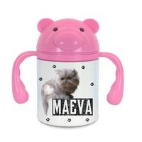 Gourde pour bébé Chat chaton personnalisée avec prénom