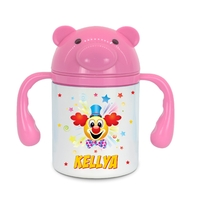 Gourde pour bébé Clown personnalisée avec prénom