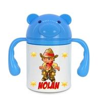 Gourde pour bébé Cowboy personnalisée avec prénom