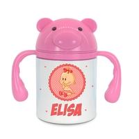 Gourde pour bébé Fille personnalisée avec prénom